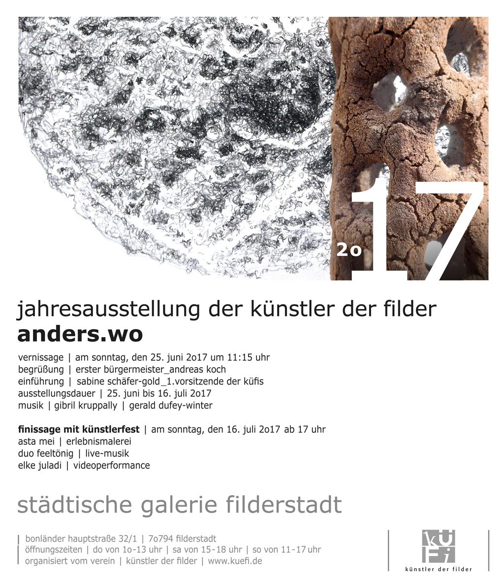 Einladung zur Jahresausstellung der Künstler der Filder 2017