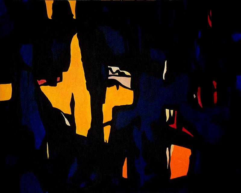 Dark Temptation 1 (Hommage à Clyfford Still) | Acryl auf Karton | acrylics on cardboard | 100 x 80 cm