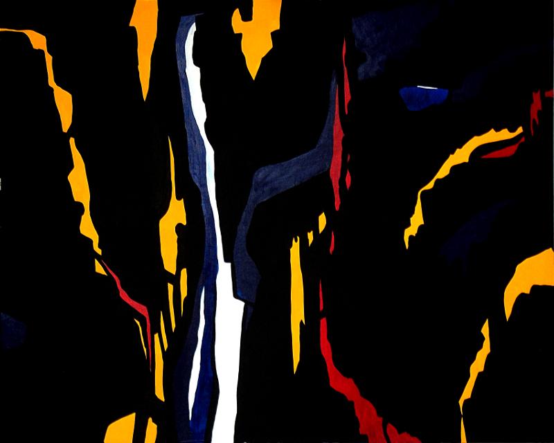 Dark Temptation 2 (Hommage à Clyfford Still) | Acryl auf Karton | acrylics on cardboard | 100 x 80 cm