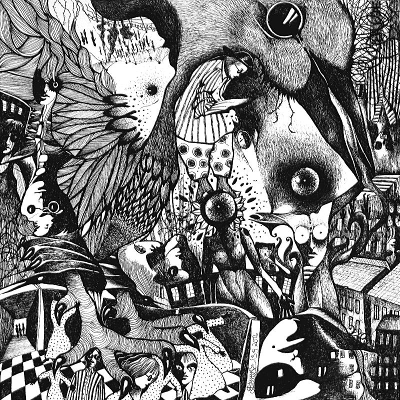 Zeichnung Nr. 36 – Piemonteser Zeichenbuch | Tinte auf Papier | 18,5 x 18,5 cm (Papierformat: 25 x 25 cm)