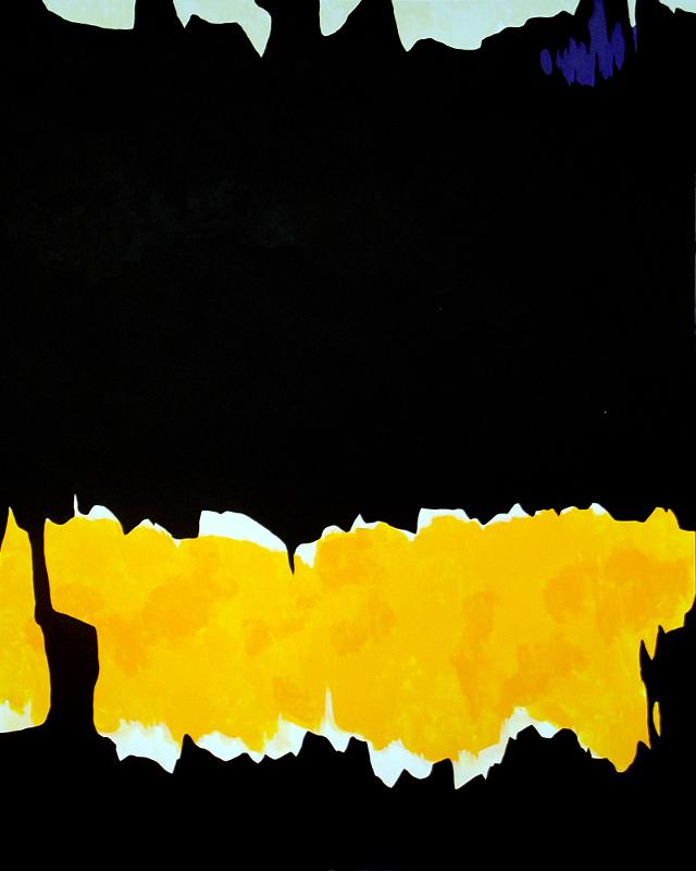 Dark Temptation 3 (Hommage à Clyfford Still) | Acryl auf Karton | acrylics on cardboard | 80 x 100 cm