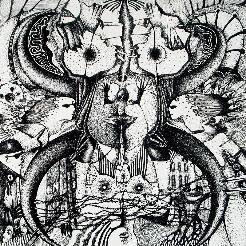Zeichnung Nr. 37 – Piemonteser Zeichenbuch | Tinte auf Papier | 18,5 x 18,5 cm (Papierformat: 25 x 25 cm)