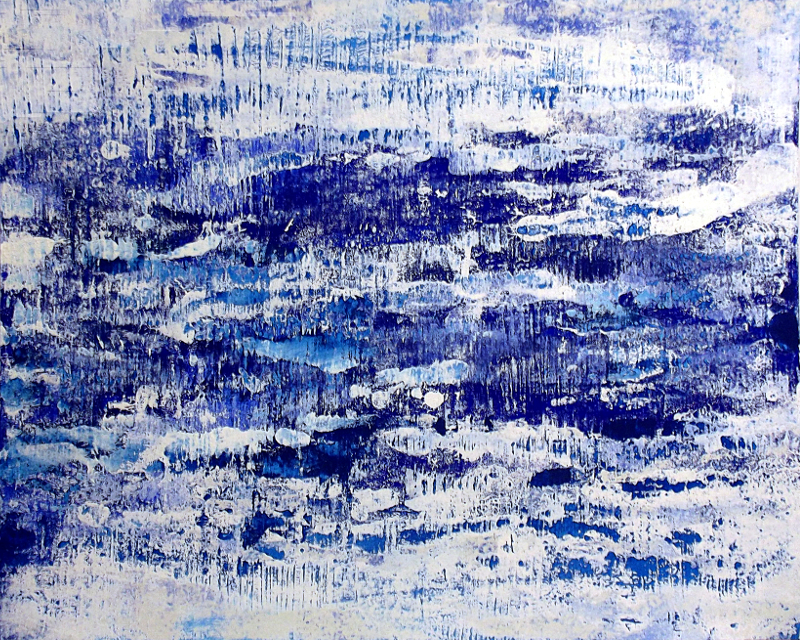 Cool Blue | Acryl auf Karton | acrylics on cardboard | 80 x 100 cm