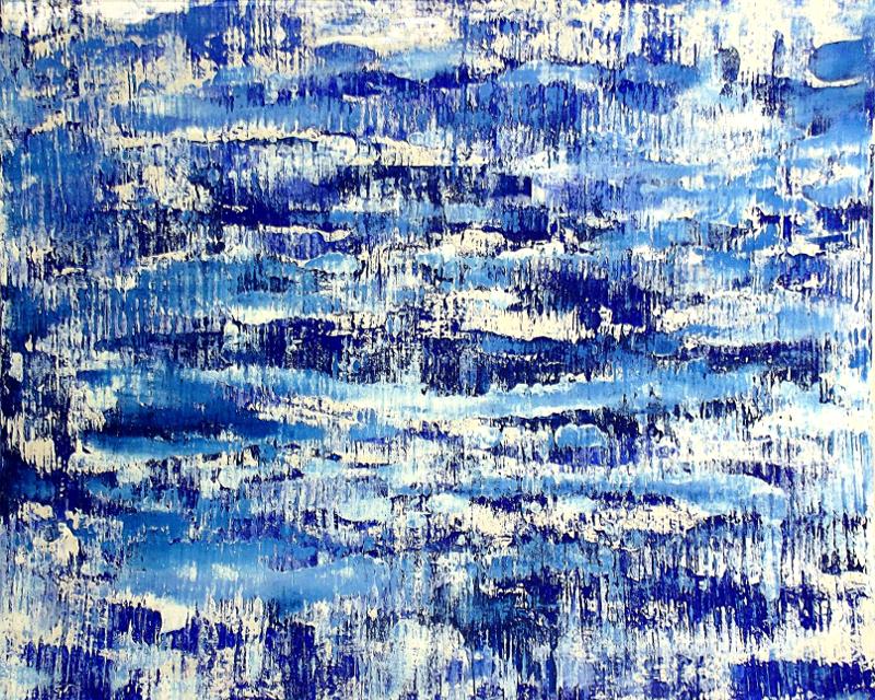 Cool Blue II | Acryl auf Karton | acrylics on cardboard | 80 x 100 cm