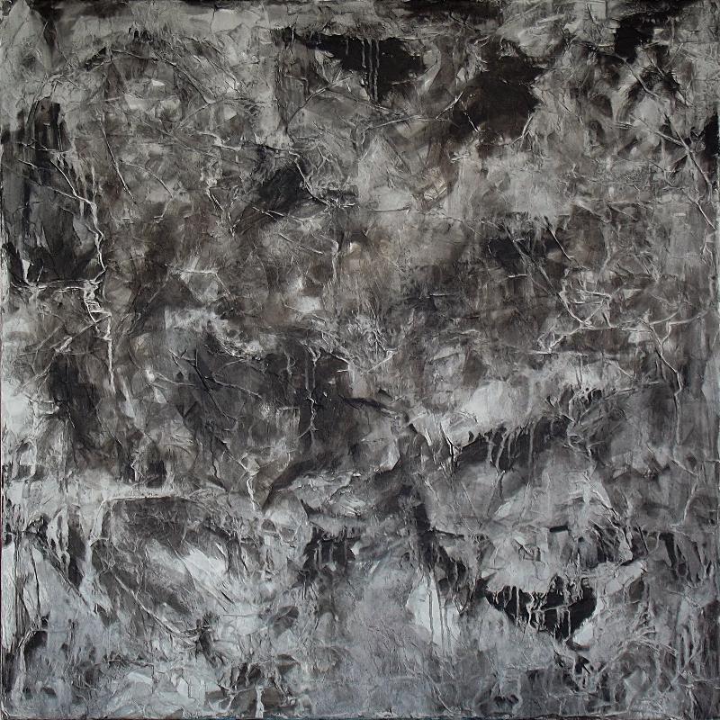 Michael Schmidt: The rock   Mixed Media auf Leinwand   100 x 100 cm