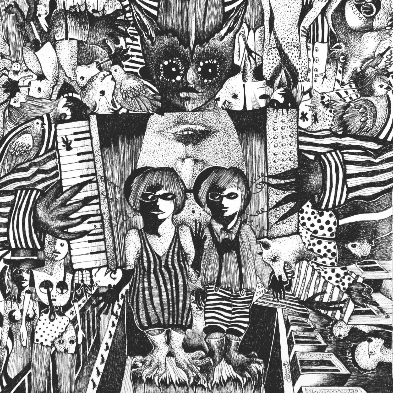 Michael Schmidt: Piemonteser Zeichenbuch Nr. 57 | Tinte auf Papier | 18,5 x 18,5 cm (Papierformat 25 x 25 cm)