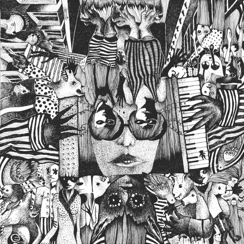 Michael Schmidt: Piemonteser Zeichenbuch Nr. 57 | Tinte auf Papier | 18,5 x 18,5 cm (Papierformat 25 x 25 cm) - um 180 Grad gedreht