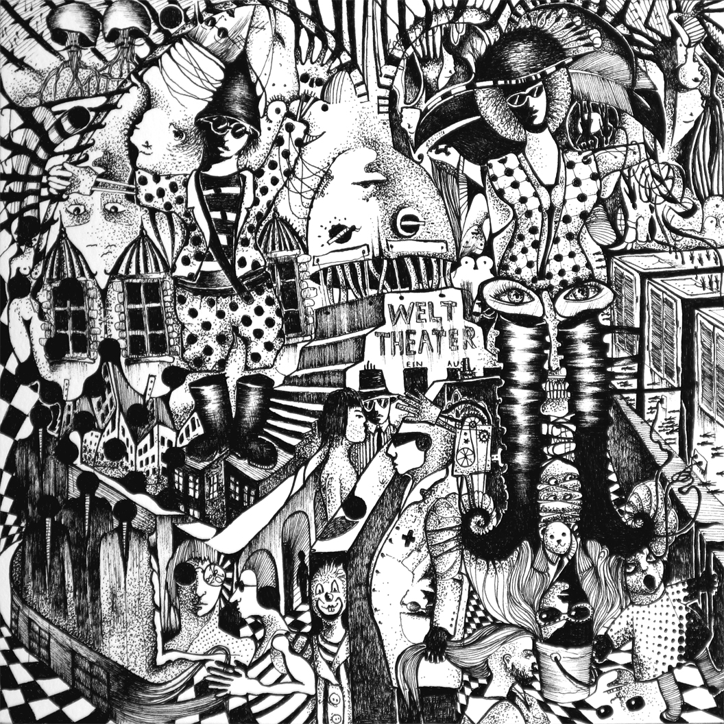 Michael Schmidt: Piemonteser Zeichenbuch Nr. 63 Tinte / Papier ink / paper 2018, 18,5 x 18,5 cm (Papierformat / size of paper: 25 x 25 cm)