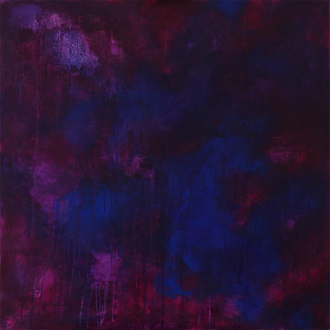 Michael Schmidt: Purple Rain | Acryl auf Leinwand | 100 x 100 cm
