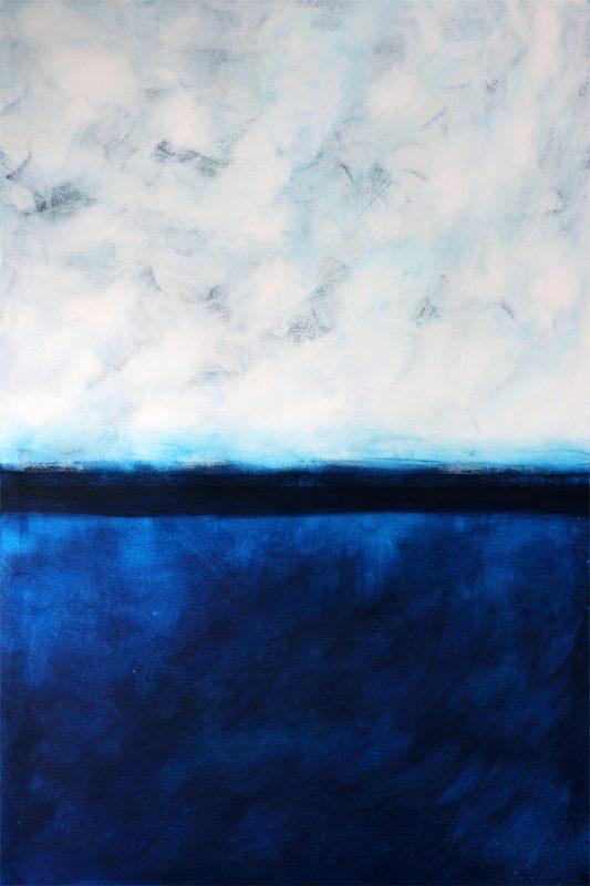Heike Schmidt - Blue Moon: Niemandsland 11 | Acryl auf Leinwand | 100 x 150 cm