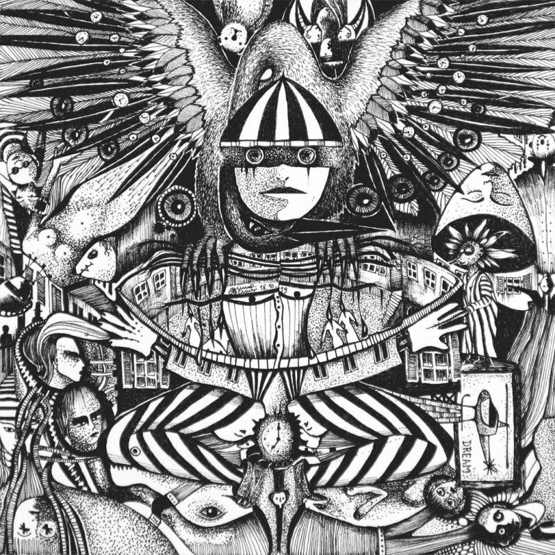 Michael Schmidt | Traumzeit | Tinte auf Papier 17 x 17 cm (Papierformat: 20 x 20 cm)